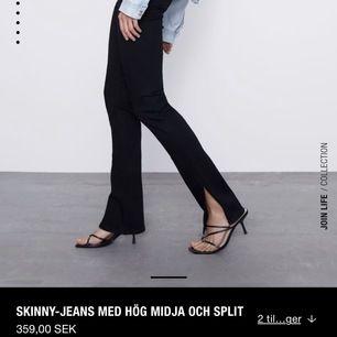 säljer även mina svarta jeans ifrån zara med slits, stl 40 men skulle säga att de passar 38 oxå. säljer vid bra bud