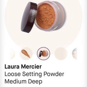 En Laura Mercier setting powder i (Medium Deep) från Kicks. Endast testad. Säljer den pågrund av felköp.