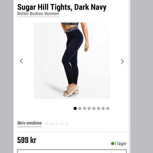Helt oanvända tights från Better Bodies, köpta på gymgrossisten för 600kr men har inte haft tillfälle att använda. Tightsen är hög midjade och ribbade, sitter fint på.