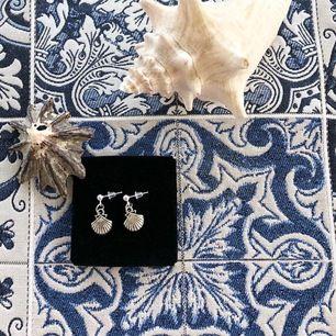 Handgjorda örhängen med snäckskal. Har flera par och dom är nickelfria. Frakten ligger på 11 kr✨