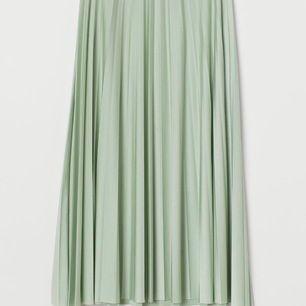 Säljer min superfina plisserade kjol från H&M. Den är endast använd en gång (se bild) så den är som ny! Den ha som en underkjol. Frakt ingår ej i priset men den kan hämtas upp i Bromma annars! Inhandlad för 500 kr.