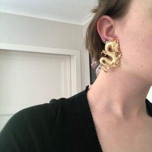Coola örhängen, guld drake. Säljs för de aldrig använts
