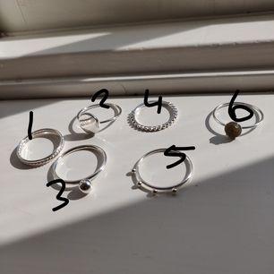 Silverringar från HM. 10kr styck +frakt