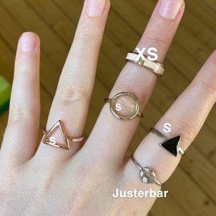 Superfina ringar i olika skick och färger, se bilderna. Alla kostar 10 kr styck! Skriv om du är intresserad 😍
