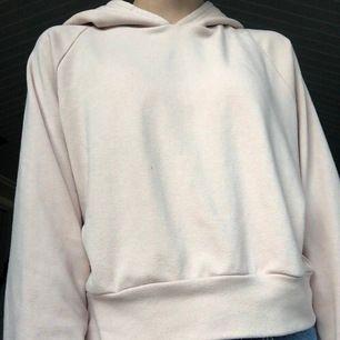 En rosa hoodie i kortare modell från bikbok. Det är i stl S. Fint skick. Skulle säga att hoodies färg ser mer ut som på bilderna 2 och 3.  Köparen står för frakten❤️