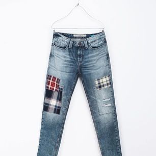 ZARA patchwork jeans. Size 34 Waist 40cm Hips 46cm  Please check out my other items! :)
