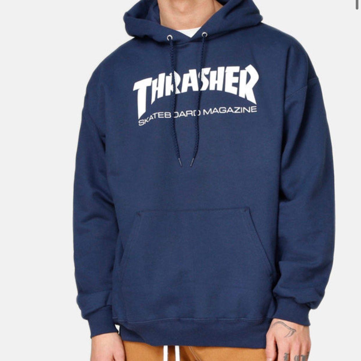 Superfin trasher hoodie, sparsamt använd, storlek s, köpt för 999, frakt ingår i priset. Tröjor & Koftor.