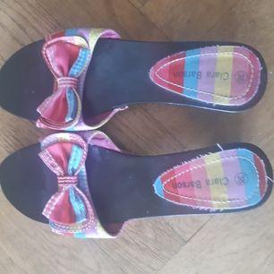 Sandaler med träsula stlk 38