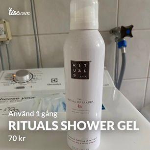 Showe gel använd 1 gång