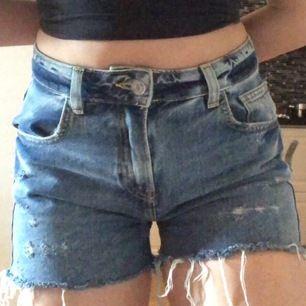 Skitsnygga jeansshorts ifrån bikbok! Köpta förra sommaren men använda kanske 2-3 ggr. Säljer för att jag ej har användning till de. Kan mötas upp överallt i Stockholm annars frakt.