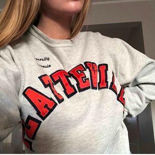 Sweatshirt från champion med tryck. Den är så mysig och skön, den kommer bara aldrig till användning