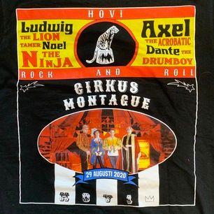 💖Åker bort 21/06 så passa på och köp!!💖                 Hov1 Cirkus Montague t-shirt från deras konsert, nyskick använd 1 gång, frakt 45kr