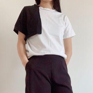 vit och svart topp / tshirt , s, 🌻 fri frakt