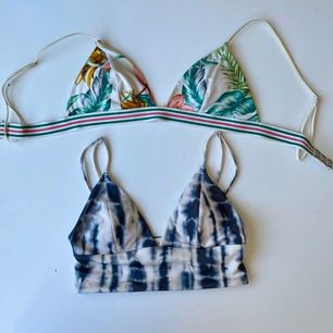 Väl använda söta bikinitoppar från H&M, säljs separat eller tillsammans. 20 kr styck eller 30kr för båda💞💞 tvättas innan de skickas såklart