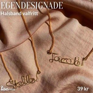 Designar och säljer halsband med namn, har i färgerna Guld och Silver, man kan också välja ha de som armband o då kostar det 35 kr🤍Gör alla namn oavsett längd KAN  FRAKTA OCH MÖTAS UPP I HELSINGBORG SKÅNE!✨ FRAKT TILLKOMMER DÅ PÅ 14kr💗