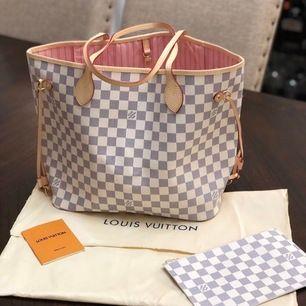 Säljer en fin Lv neverfull väska i äkta läder , helt ny & oanvänd. Allt på bild ingår. Hör endast av er om ni är seriösa