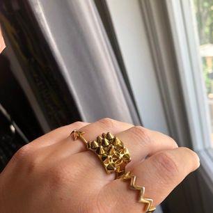 Säljer min Edblad ring med nitar ( ring i mitten ) då den knappt kommer till användning! Lite osäker på storlek men är i M eller i L!