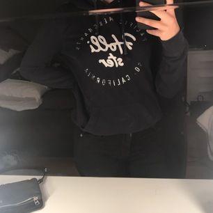 Marinblå hollister hoodie storlek M. Nypris:500