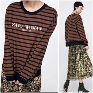 snygg brun o svart tröja från zara🤎 den är sparsamt använd!😘