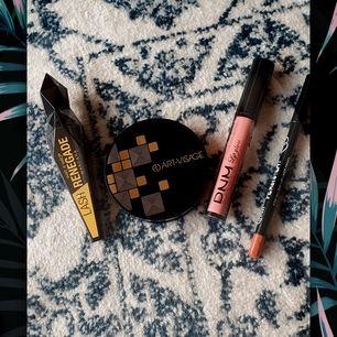 Erbjudande! En makeup set. I setett ingår en lash renegade mascara från wet n wild, puder från art-visage, läppglanss i färgen ruddy pink 10 från DNM, sist men inte minst en läpp penna från persistent. Alla produkter är nya. Pris: 150kr+frakt 40kr
