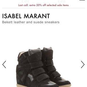 skor från isabel marant, svarta. skorna är i väldigt bra skick och ser knappt använda ut. kartong, kvitto och påsar finns tyvärr inte kvar, men det finns en kod i skorna som bevisar att dom är äkta. skorna är i storlek 36💗