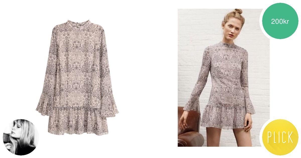 Paisley-mönstrad volangklänning - Klänningar - Second Hand b248c75b60a96