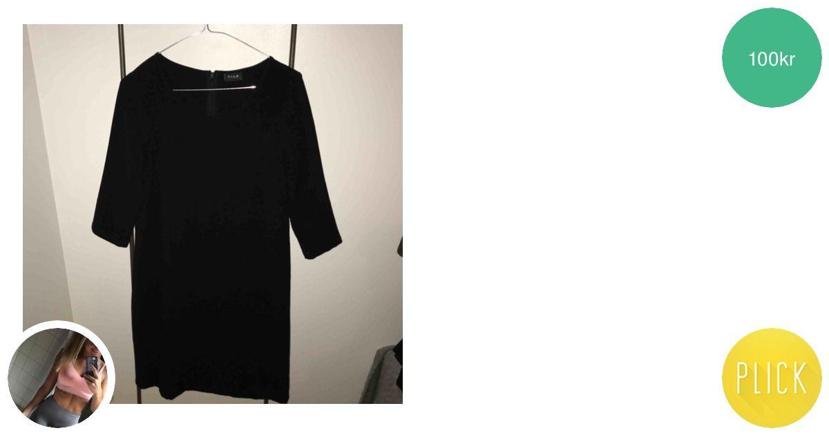 1e07adbfa06b Svart enkel klänning från VILA - Vila Klänningar - Second Hand