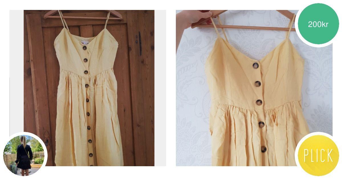 ef99a264bafa Så fin ljusgul klänning med knappar - Klänningar - Second Hand