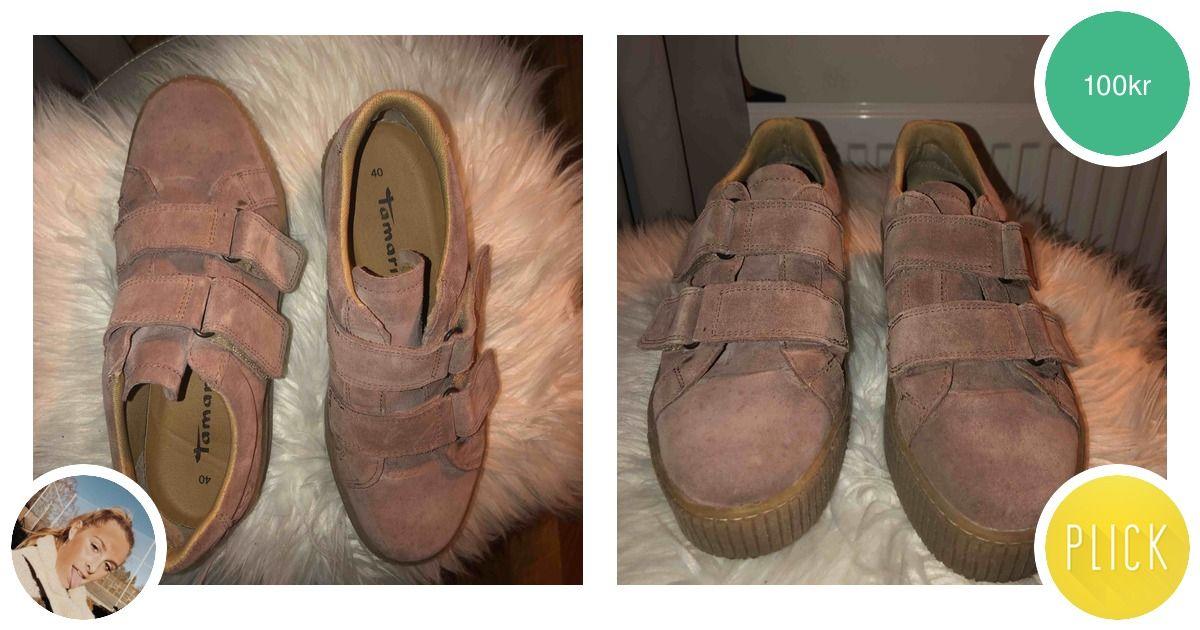 dc9e7c98fa4 Rosa mocka skor med högsula i beige - Skor - Second Hand